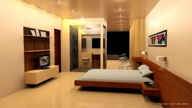 Luxury house interior 3D model | CGTrader on Model Bedroom Interior Design  id=30271