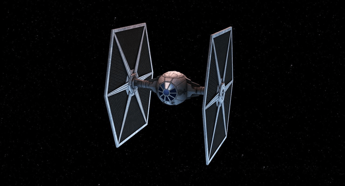 3D Asset Game Ready Tie Fighter CGTrader