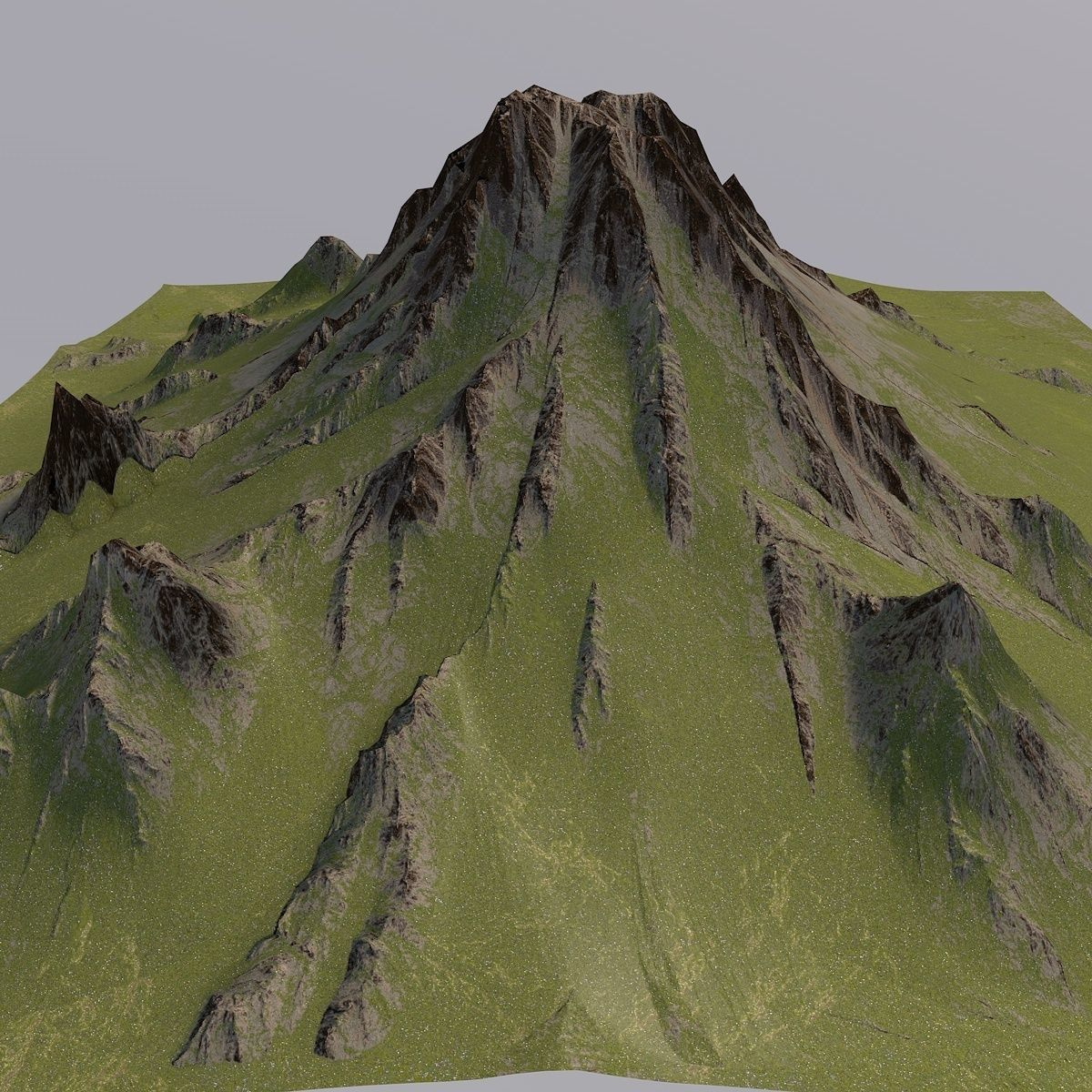 mountain 3d model rock desert | cgtrader