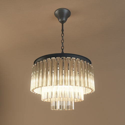 Restoration Hardware 1920s Odeon Glass Fringe Chandelier Model
