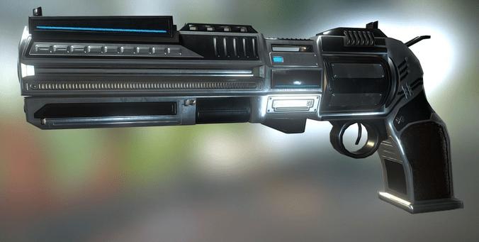 Futuristic Revolver 3D Asset CGTrader