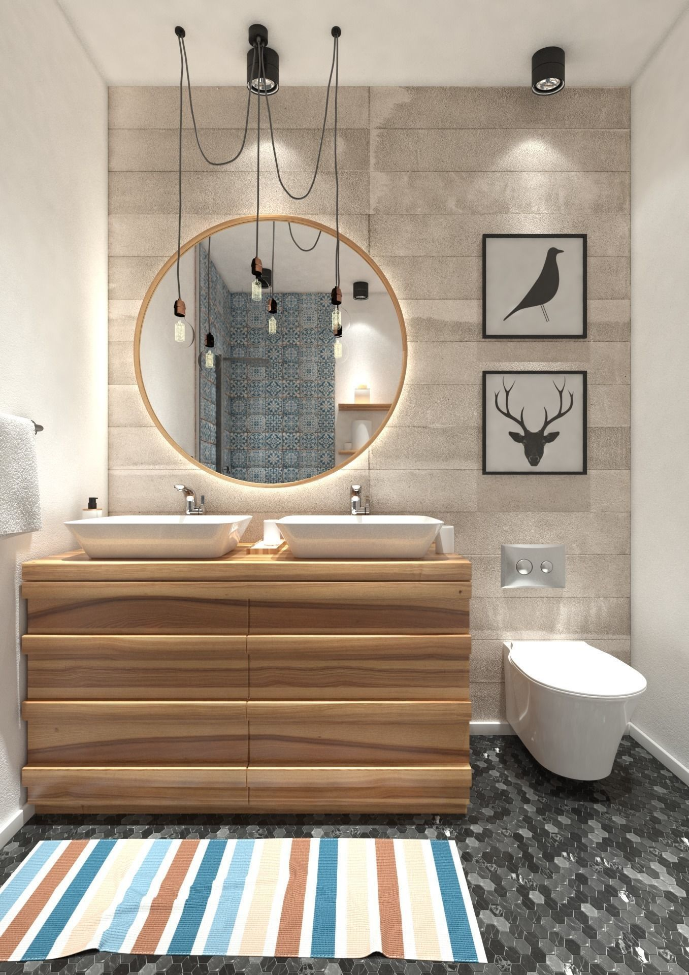 Industrial Bathroom full scene in 3ds Max and VRay on Bathroom Models  id=36760