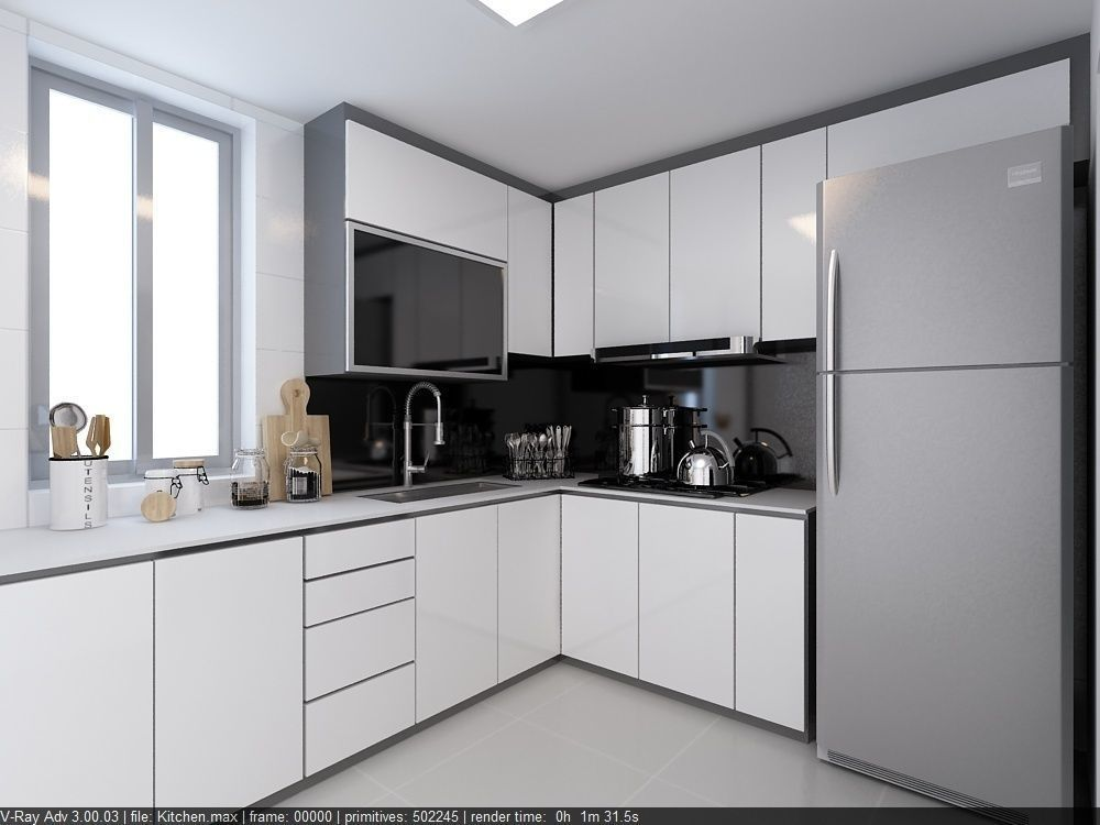 3D Kitchen 4 - fast render vray settings kitchen-dininig on Kitchen Model Images  id=62033