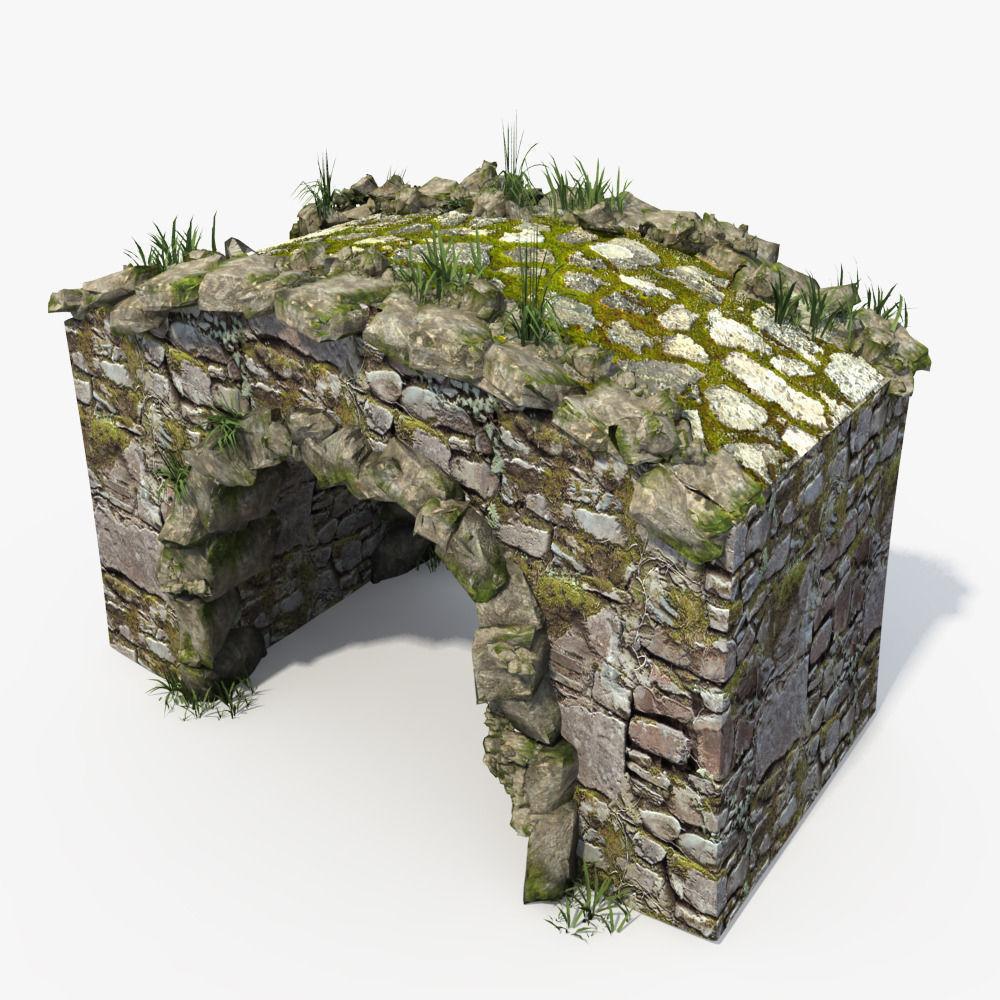 3D Stone Bridge | CGTrader on Granite Models  id=64582