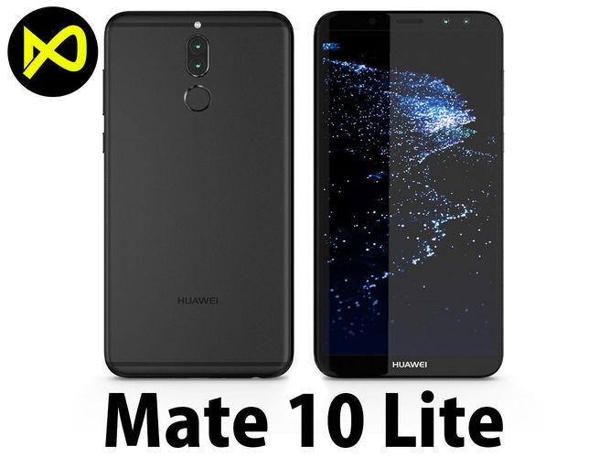 Huawei Mate 10 Lite Black 3D | CGTrader