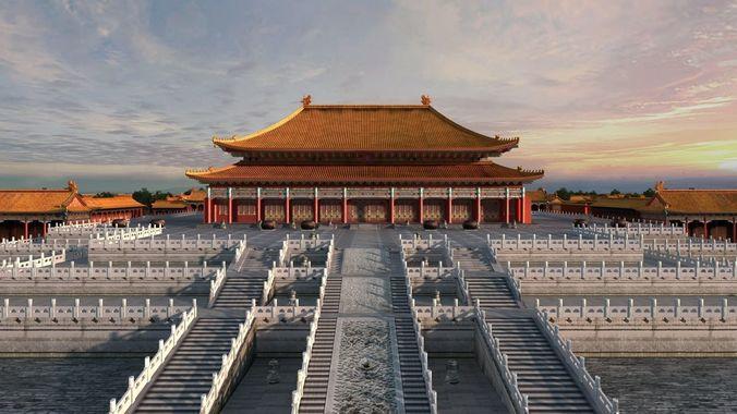 China Palace Museum 3D Model CGTrader