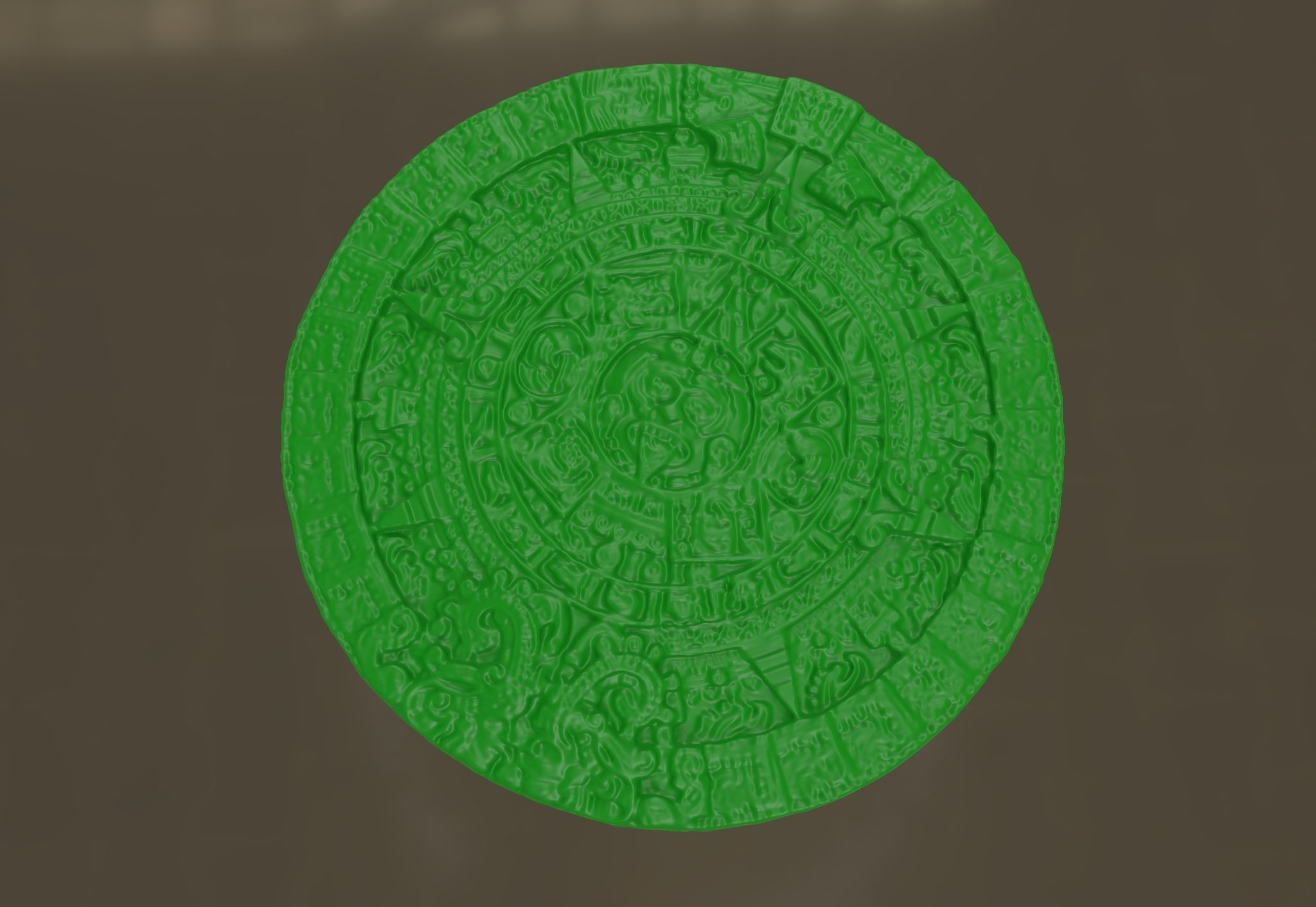 Aztec Sun Calendar 3d Printable Model