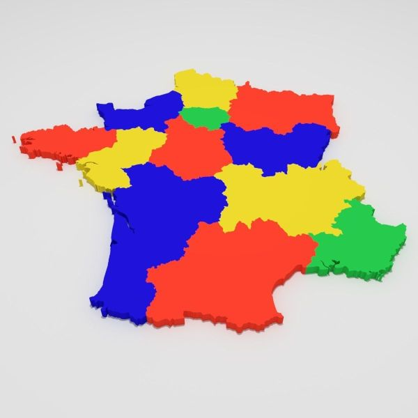 3D asset Map of France   CGTrader     map of france 3d model blend 9