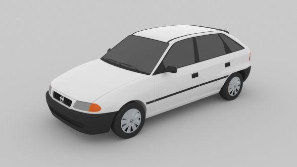 3D asset Opel Astra F 1991 | CGTrader