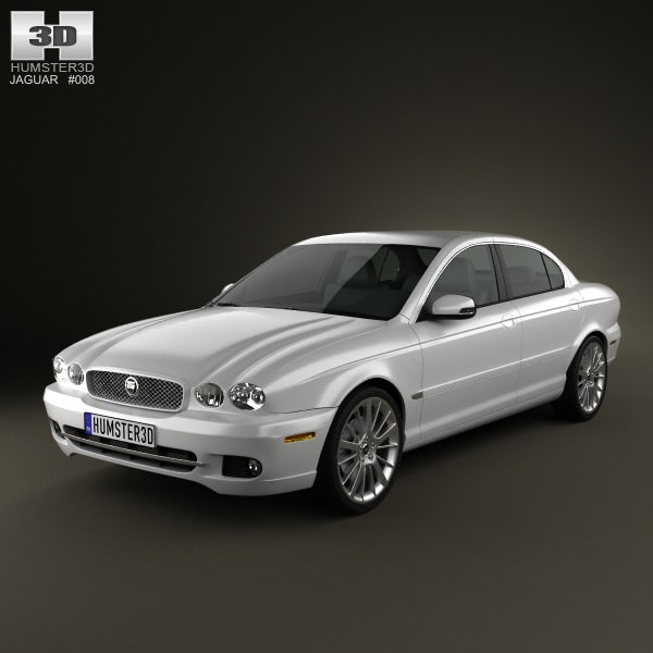 Jaguar X Type Saloon 2009 3d Model