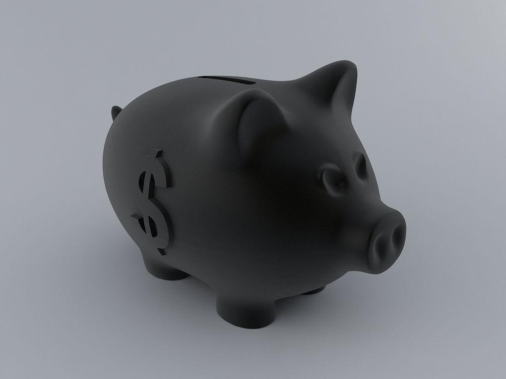 Piggy Money Bank 3d Model 3d Printable L
