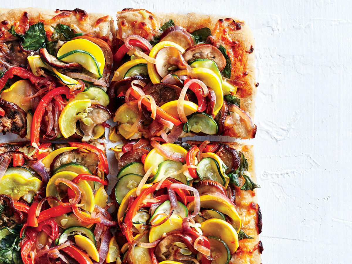 Supremely Veggie Pizza Recipe Cooking Light