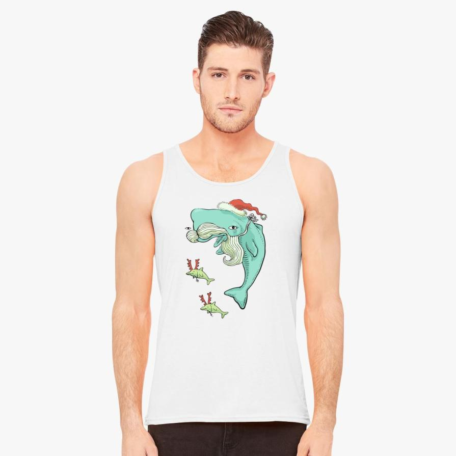 Christmas Whale Men's Tank Top