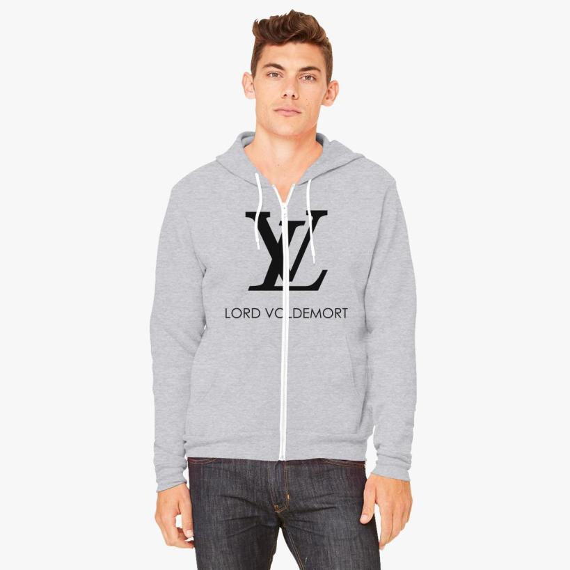 Louis Vuitton by Lord Voldemort Zip-Up Hoodie