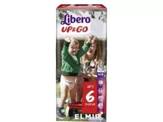 Подгузники-трусики унисекс Libero Up&Go 6 38шт ...
