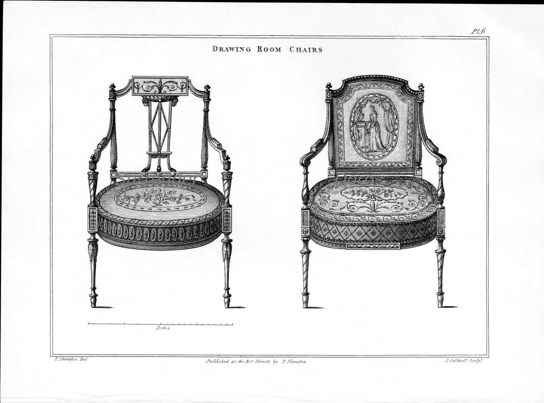 Drawing Room Chairs Thomas Sheraton Furniture Design Drawing