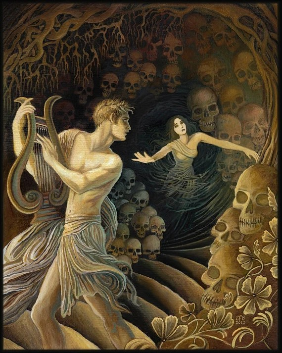 Orpheus and Eurydice Greek Mythology Original Painting