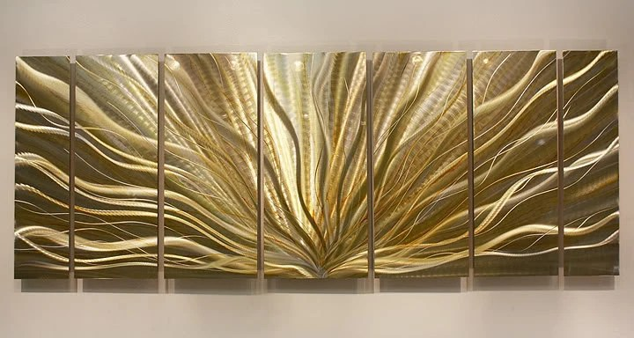 Gold & Silver Modern Metal Wall Art Metallic By