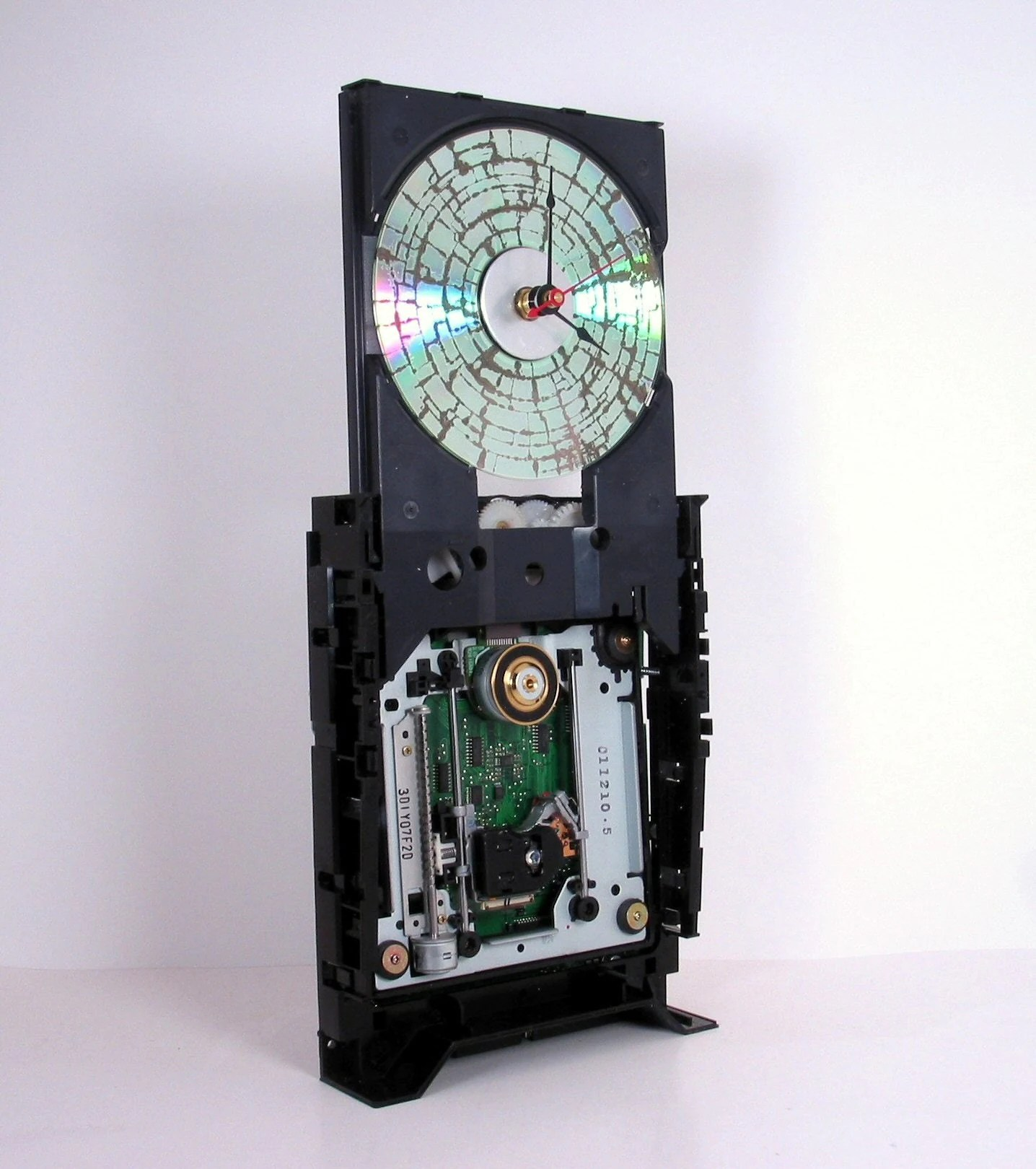 Computer Cd Rom Clock Desk Or Wall Mount