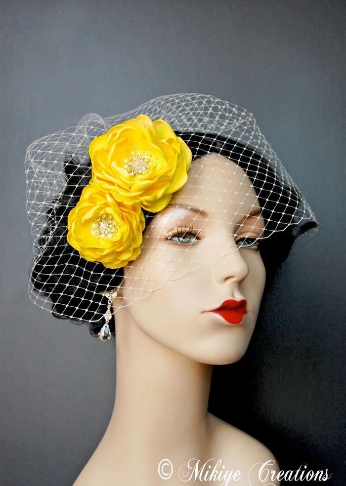Yellow Hair Accessories Wedding Wedding Hair Flowers