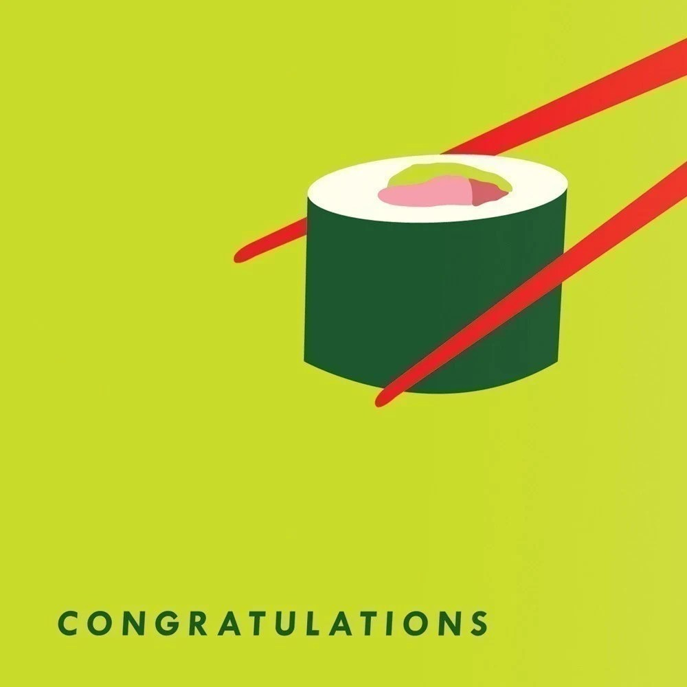 PREGNANCY - Congratulations card with sushi - smackofjellyfish