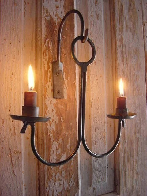 Primitive Candle Lighting Hanging Candle Holder by ... on Metal Candle Holders For Wall id=61540