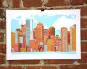Boston- Hand-printed Art Print - nateduval