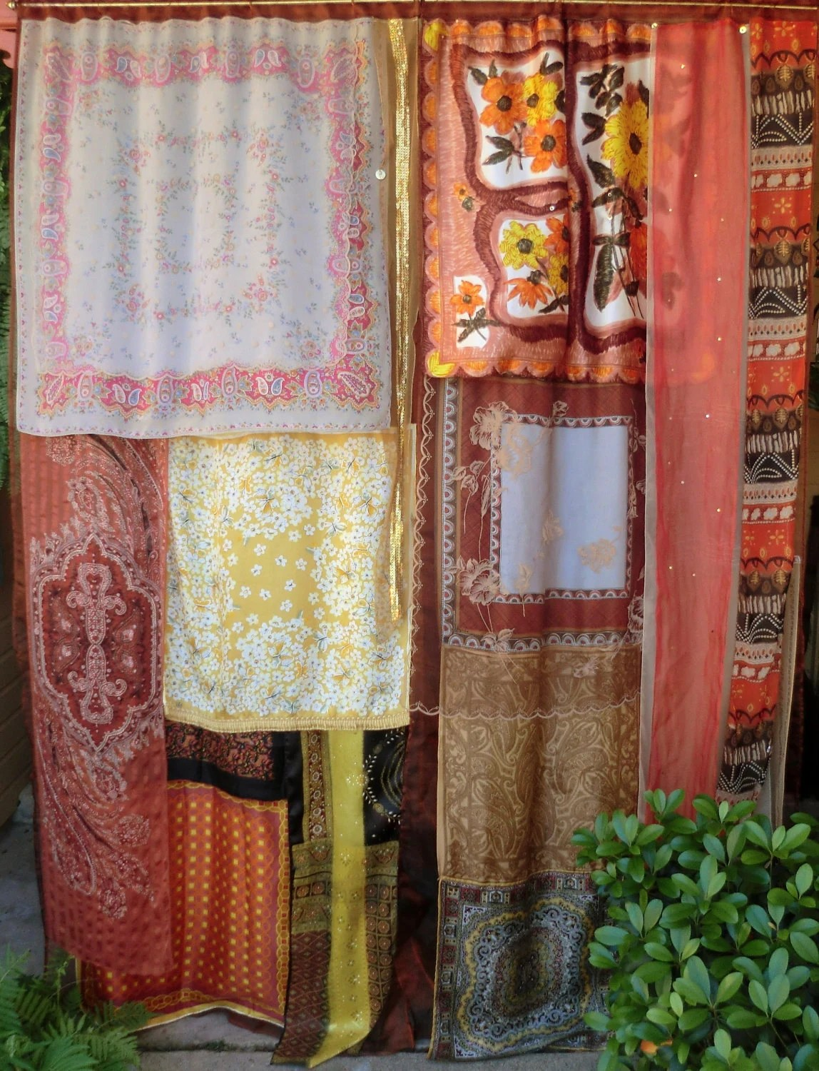 EARTHSONG Handmade Gypsy Curtains Bohemian Global Hippie