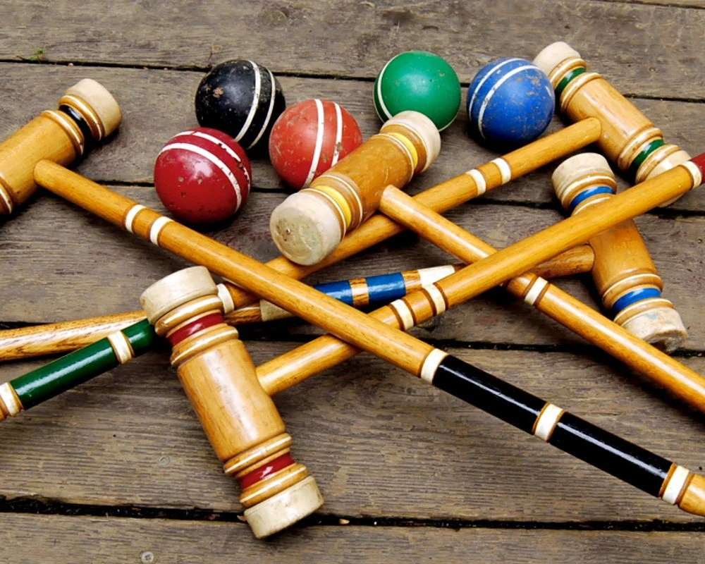 Vintage Wooden Croquet Set With Stand By CalloohCallay On Etsy