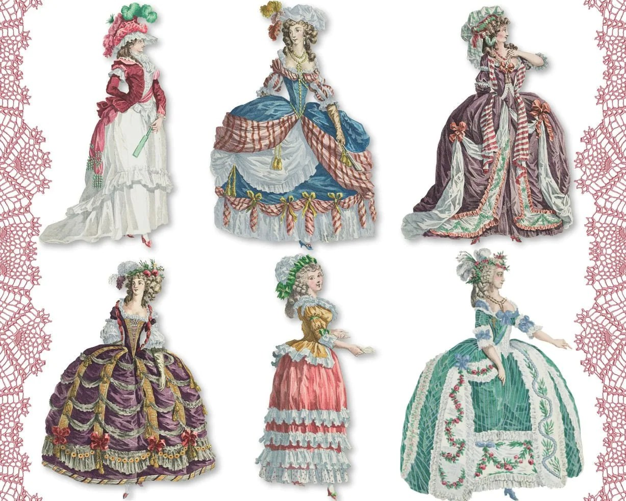 Marie Antoinette 04 Digital Collage Sheet Png Cutouts Paper