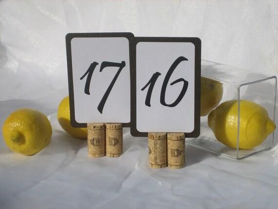 Wine Cork Table Number Holders-Set Of 10