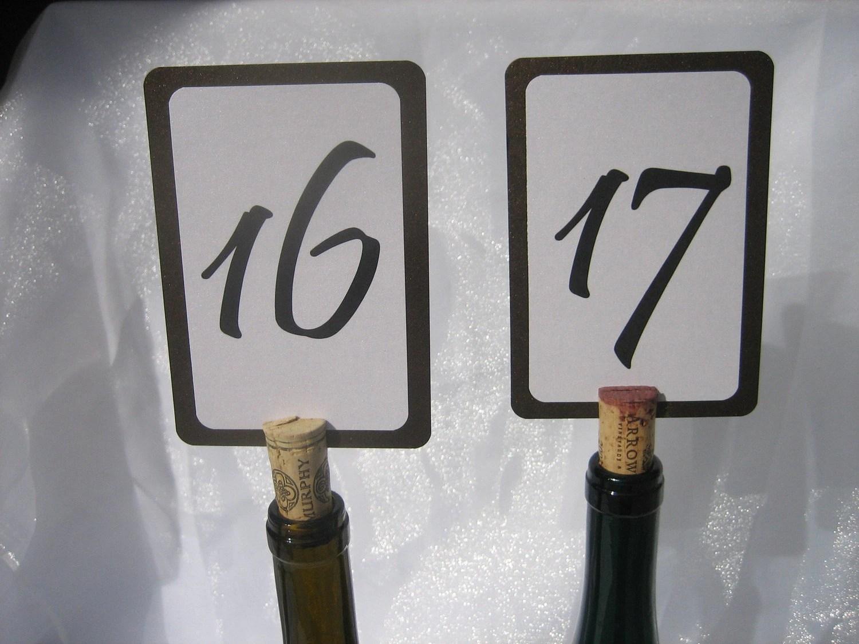 Vintage Wine Cork Table Number Holders-Set Of 20 Reserved For