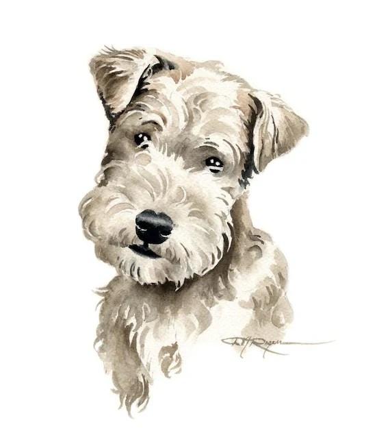 Lakeland Terrier Puppy Art Print By Watercolor Artist DJ