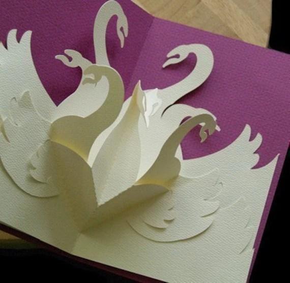 Kirigami Swans Pop Up Card Make Yourself