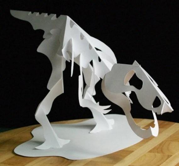 Kirigami T Rex Skeleton Make Yourself