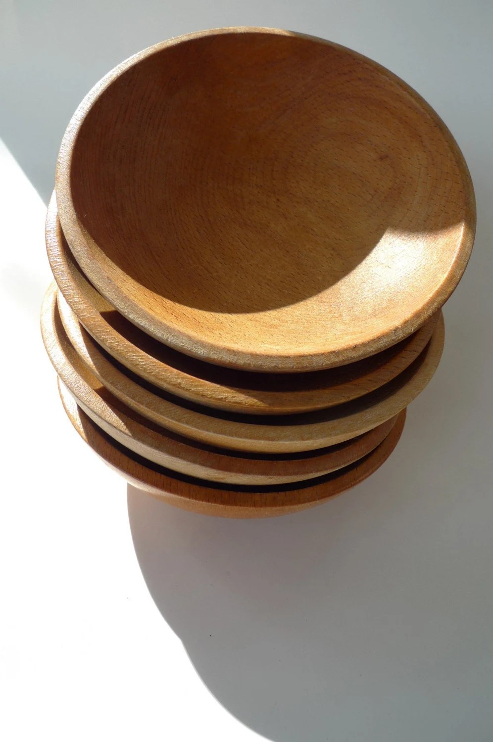 Vintage Mod Wooden Bowls Made In Japan