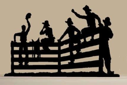 Cowboys on Fence Decal by VinylExpress