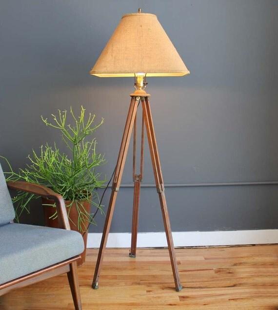 Industrial Surveyor Tripod Floor Lamp Amp Shade