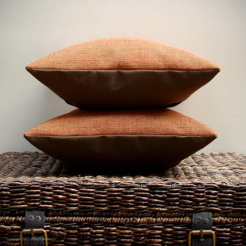 "16"" DECORATIVE PILLOW COVER - Pumpkin Harvest Chenille - Chocolate Brown Autumn Home Decor by JillianReneDecor on Etsy Made to Order - JillianReneDecor"