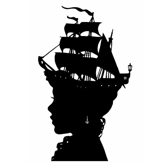 The Captain's Wife Nautical Silhouette Print - thelittlechickadee