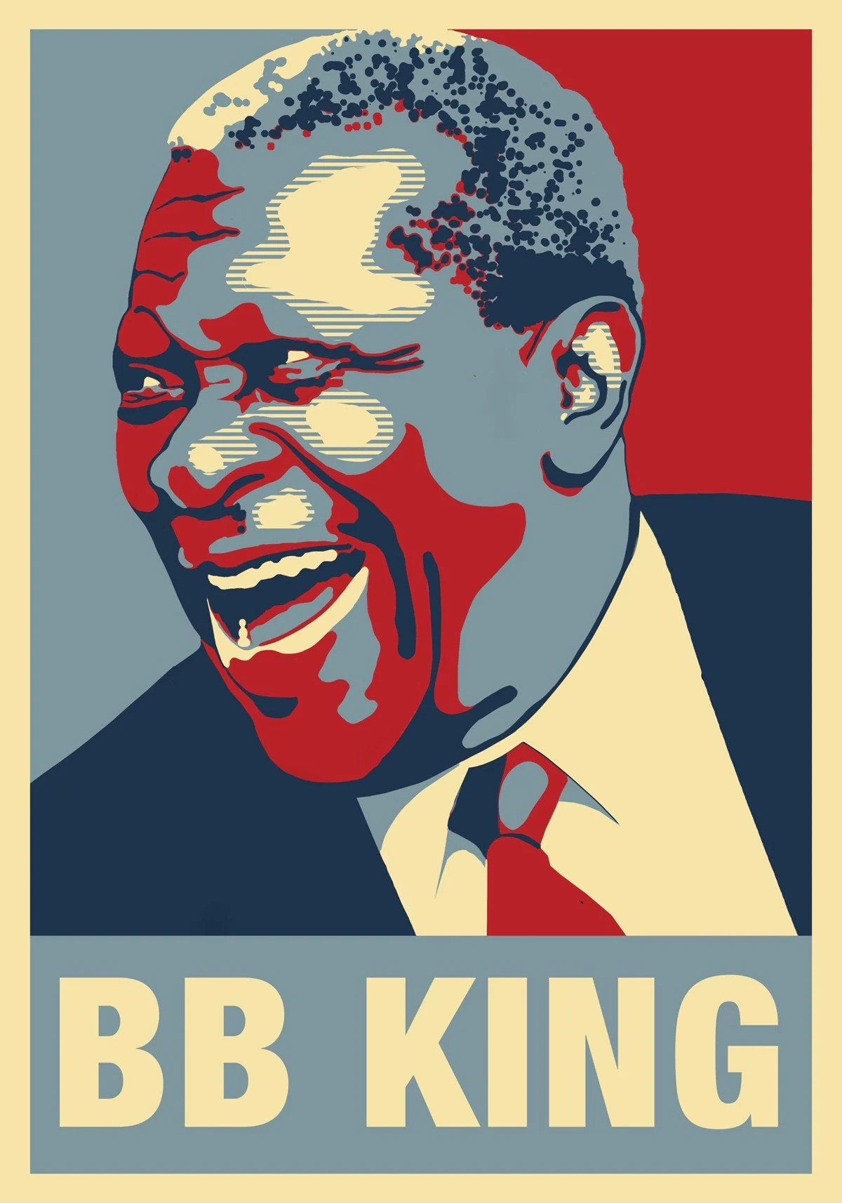 B B King Blues Man Poster First In Series By Atelierbagatelle