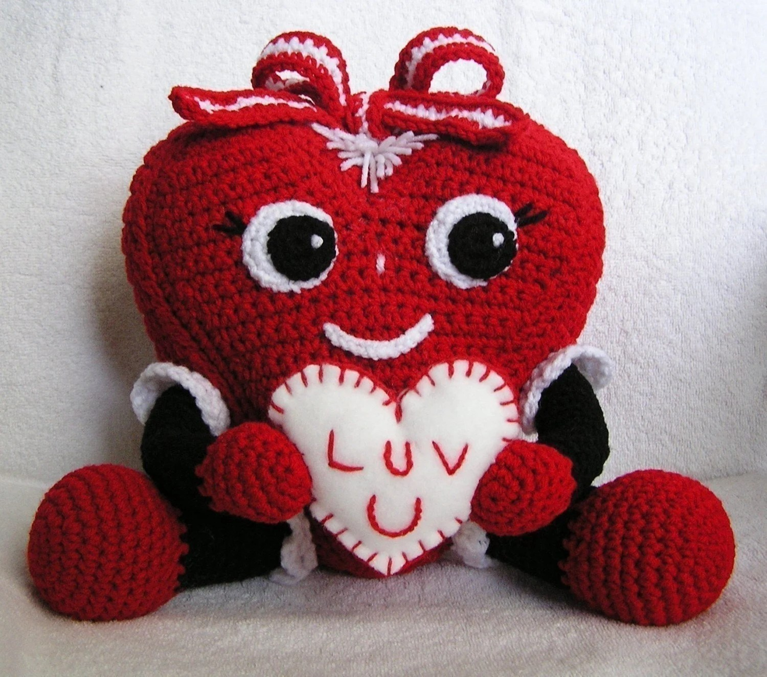 Crochet Pattern Pudgy Valentine Heart English Only