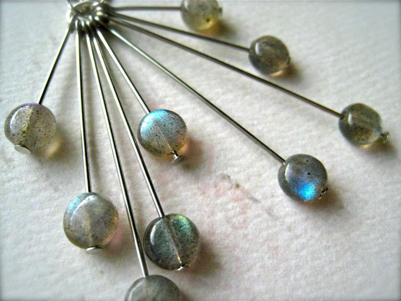 lightning storm necklace - labradorite mod necklace, sunburst, handmade, organic, ethereal, N12, labradorite jewelry - FoamyWader