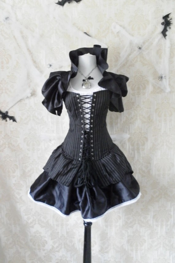 High Seas Pirate Corset Costume -Whole Outfit-Made To Order In Your Size - AliceAndWillow