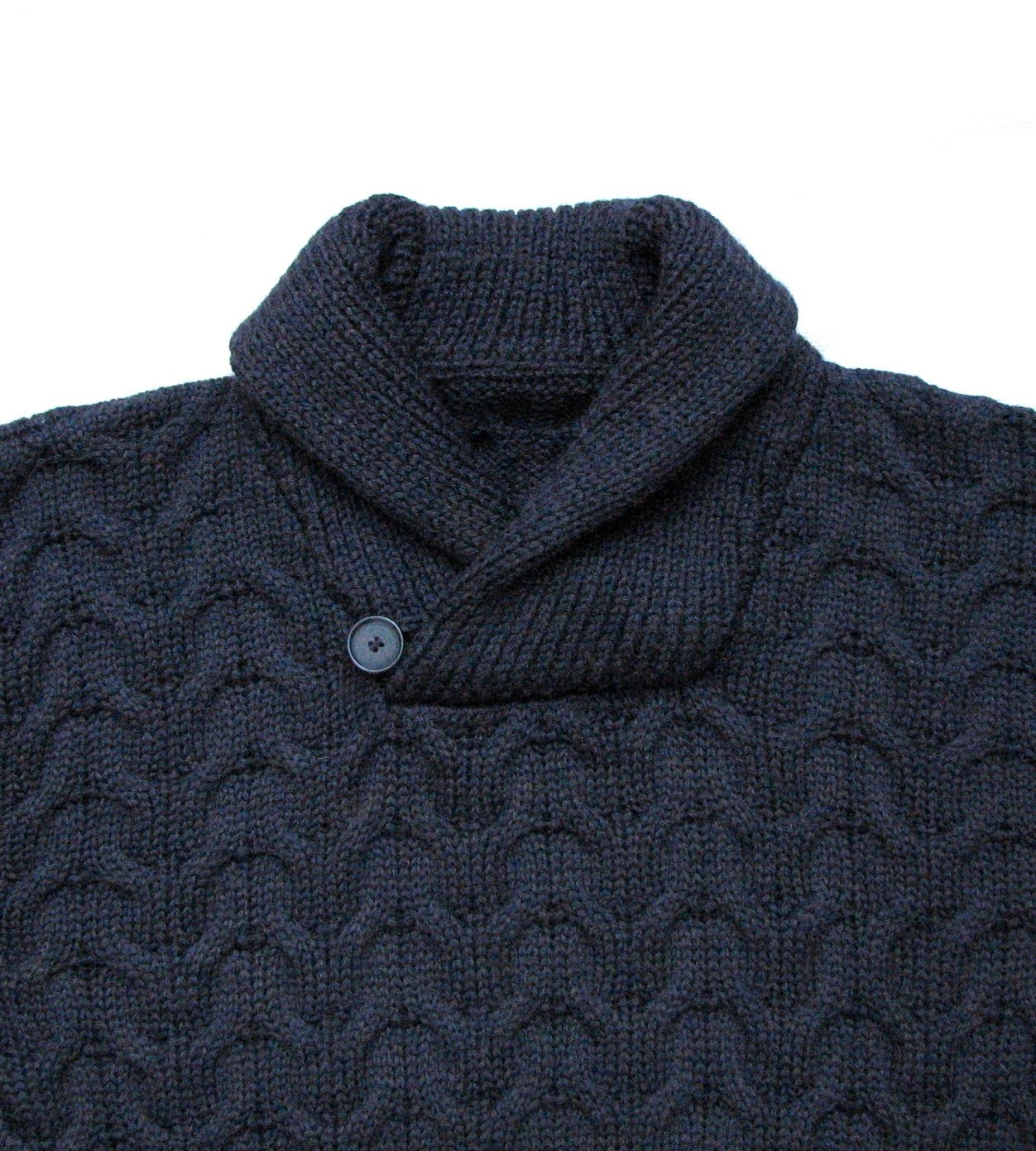 Cable Knit Shawl Collar Mens Sweater - Will be shipped in 5 business days - woolsolution