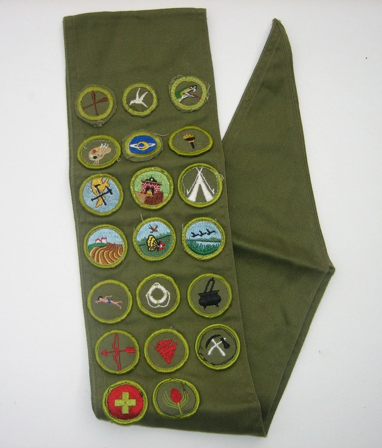 Vintage Boy Scout Sash With Patches Scouting Collectible