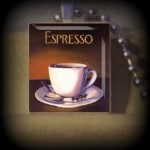 Espresso  (F 9) Vintage Scrabble Tile Pendant ..BUY 3 GET 1 FREE..