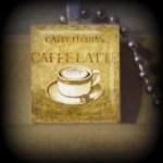 Latte (F 8 7) Vintage Scrabble Tile Pendant ..BUY 3 GET 1 FREE..