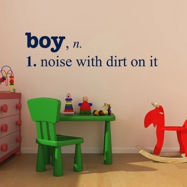Boy with Dirt definition, vinyl decal LARGE sticker