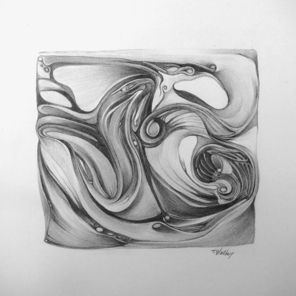 Reserved Small abstract drawing number 30